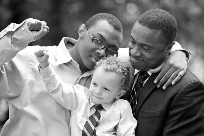foto vader en zoons