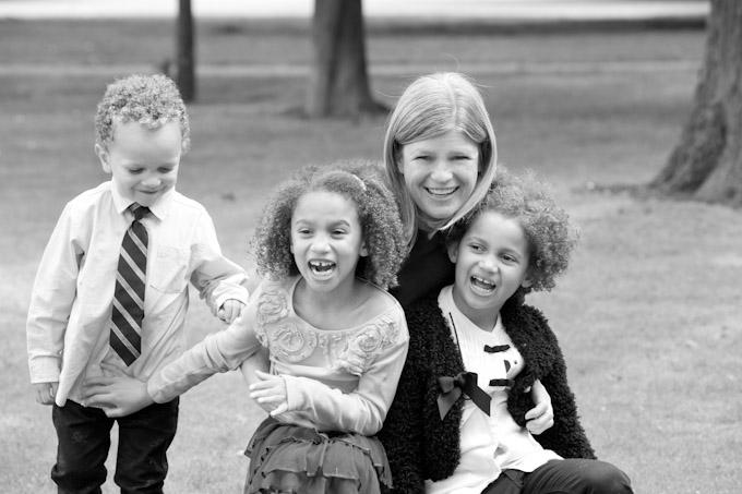 foto moeder met kinderen
