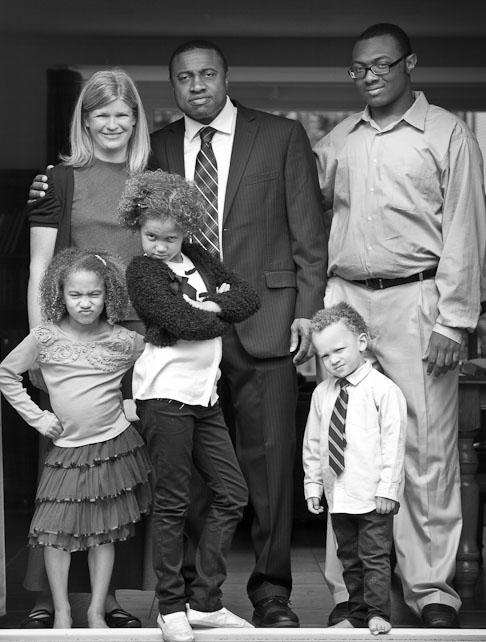 grappige gezinsfoto