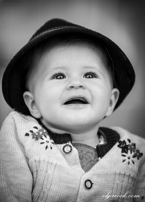 Nostalgic vintage-like portrait of a small boy wearing Tirolean hat and clothes