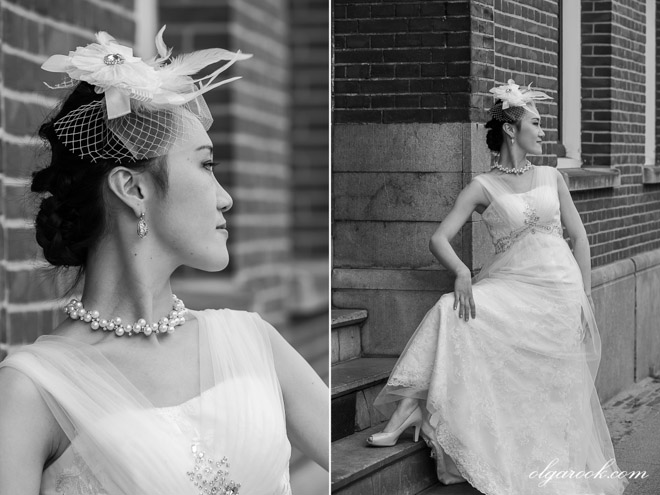 Fashion-inspired portraits of an elegant and gracious Asian bride.
