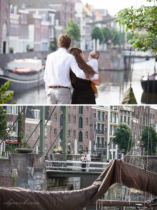 Delfshaven is a lovely location for a photo shoot, especially on a sunny day like that!