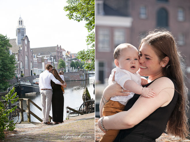 Family photo reportage in Delfshaven in Rotterdam