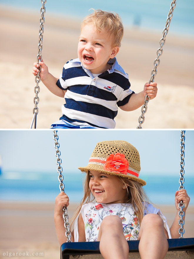 Children portraiture at the beach