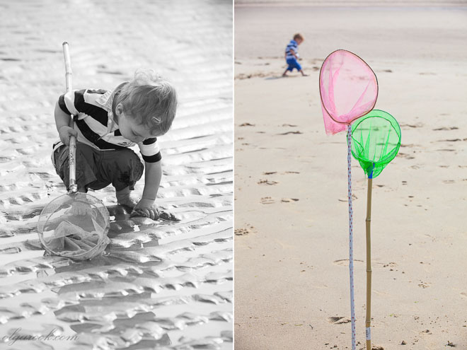 Photos of little boy on a beach