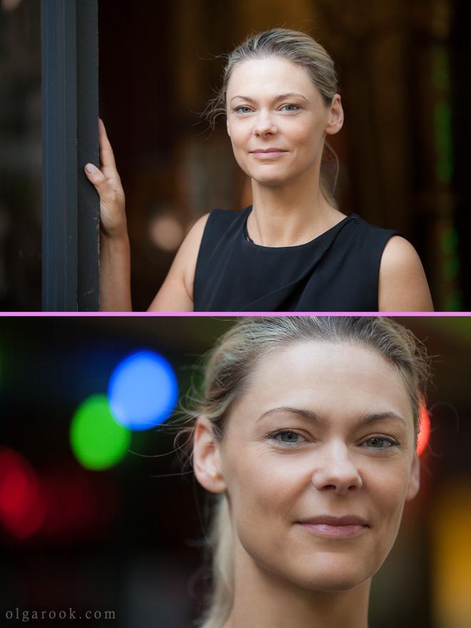 Portret van een zakenvrouw op straat in Rotterdam