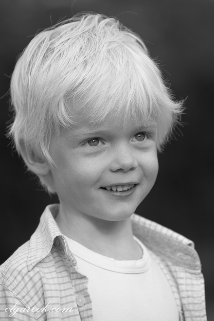 Photo of a small blond boy