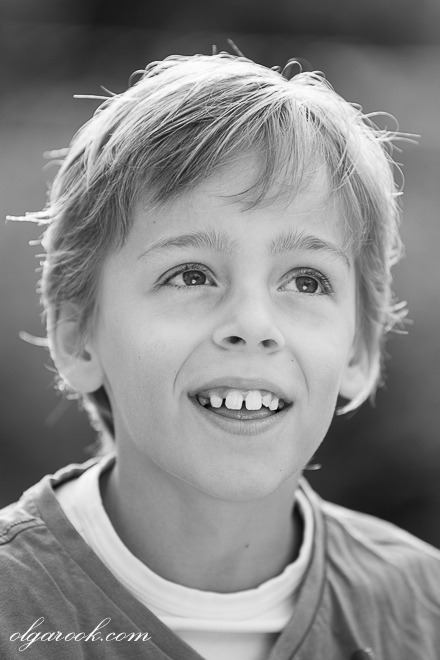 Portrait of a boy with an open smile