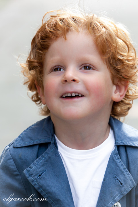 photo of a little boy with red curls