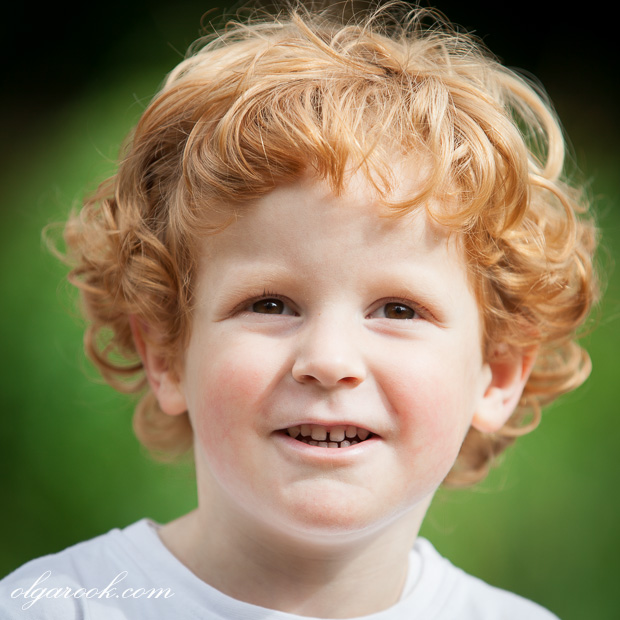 photo of a little boy with golden locks