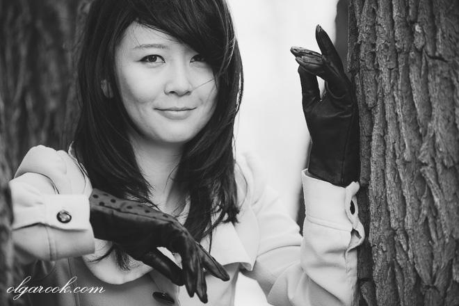 klassiek portret van een elegant Aziatisch meisje