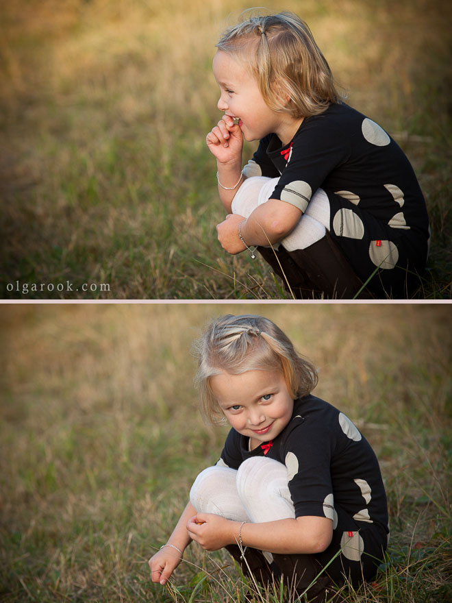 portraits of a little girl playing in the dunes: the