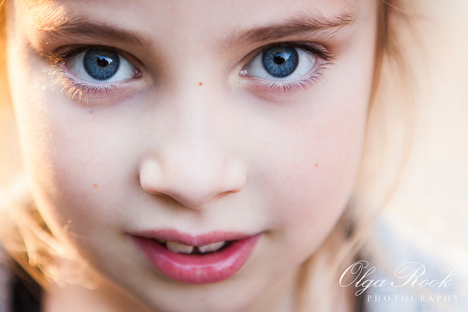 Close-up portrait of a little girl