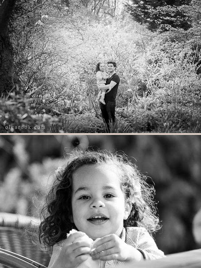 photo session of a little girl and her parents