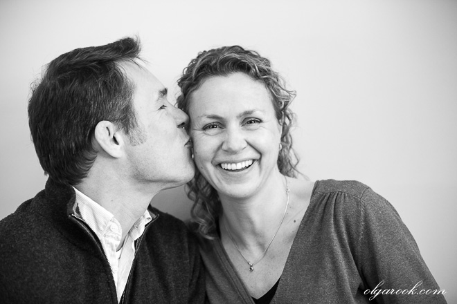 A funny portrait of a couple