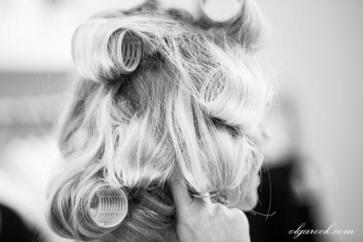 preparing a hairdress
