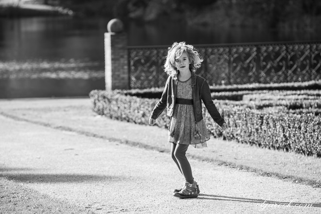 photo of a little girl in a park