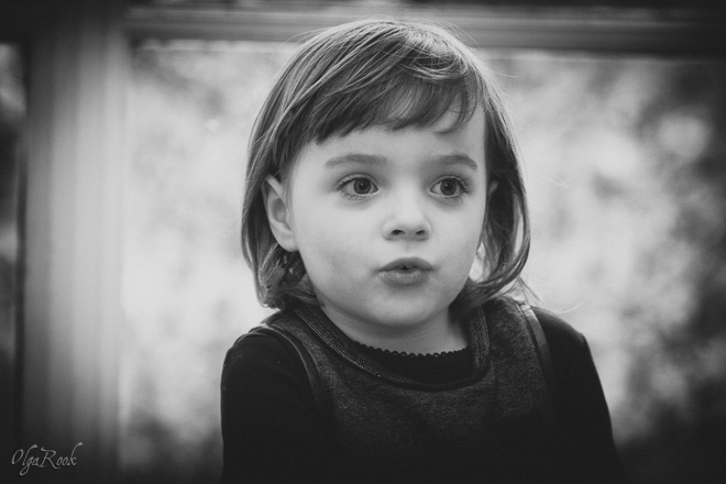 Nostalgic vintage style portrait of a little girl