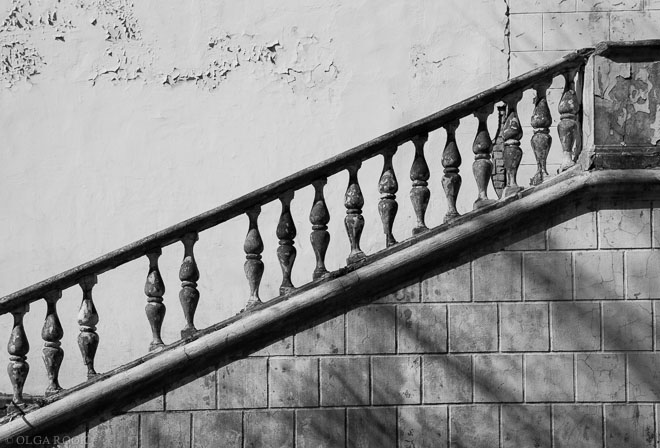 Moskou, VDNKh. Balustrade detail