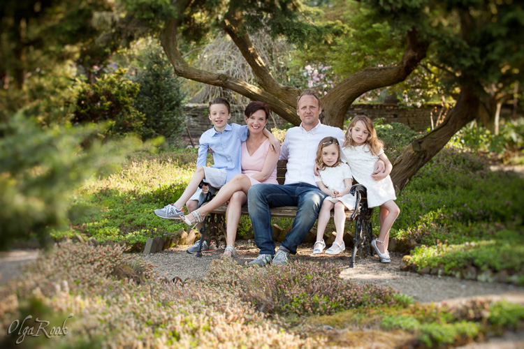 gezinsportret in een park