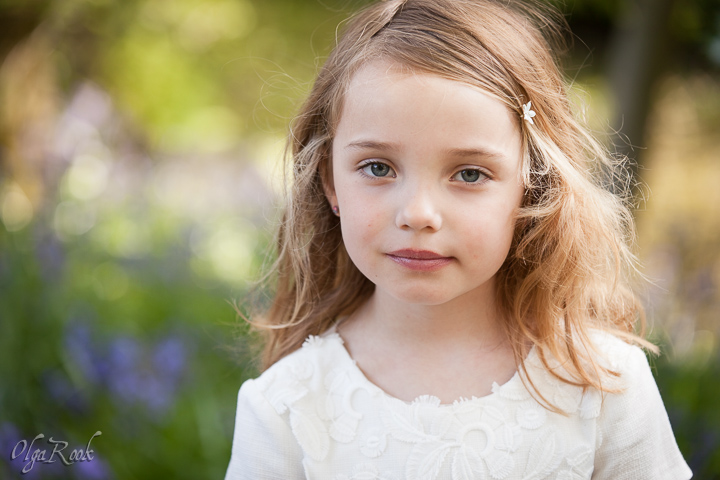 Romantic portrait of a little girl.
