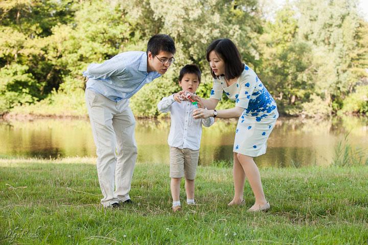 gezinsfoto in een park