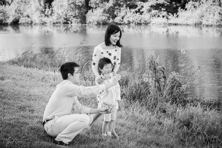 foto van een gezin in een park
