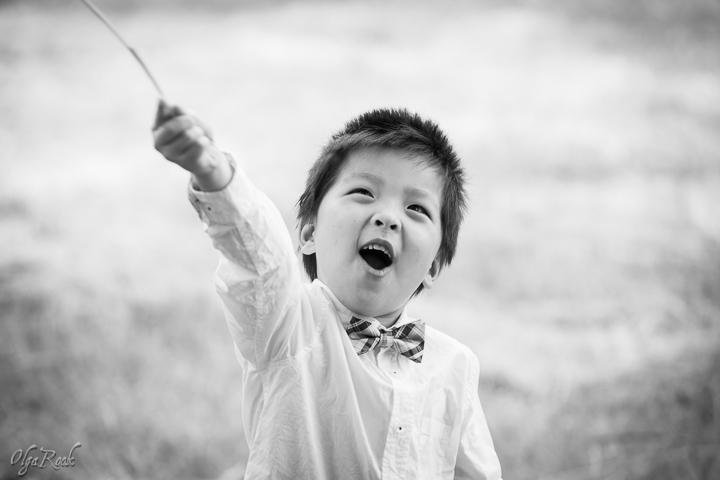 portret van een vrolijk jongetje