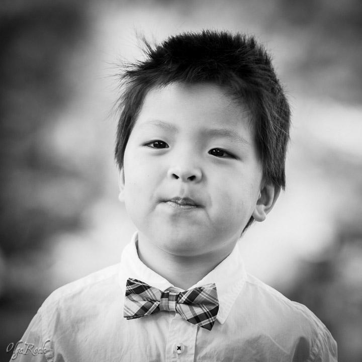 klassieke zwart-wit portret van een jongetje