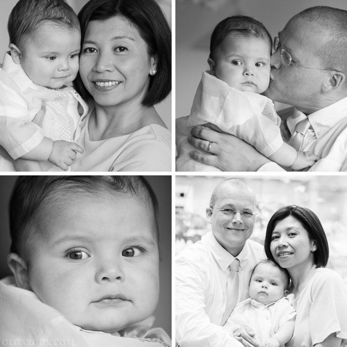 Gezinsportretten voor de doopceremonie