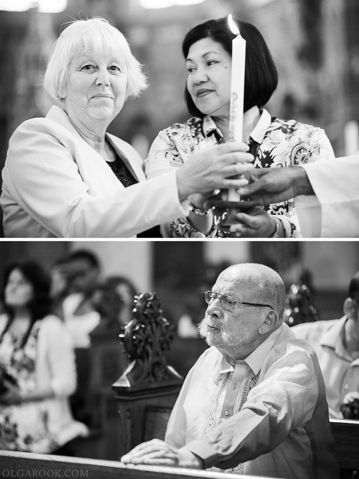 tijdens de doopliturgie: de grootouders