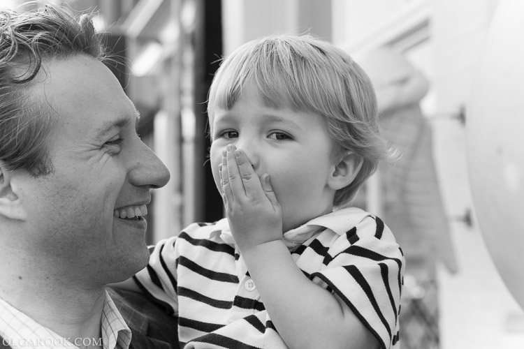 portret van een jongetje met zijn vader