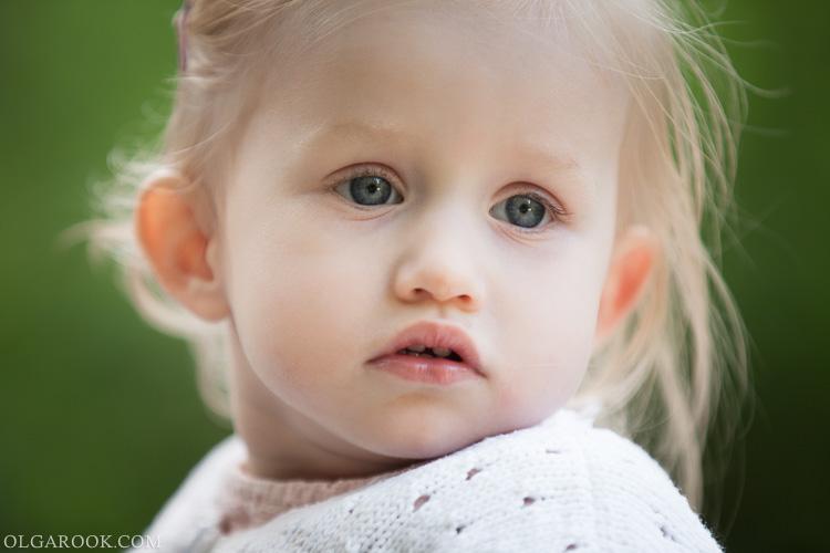 portret van een klein meisje