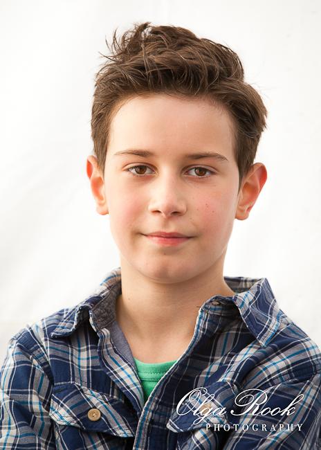 Portret van een jongen.