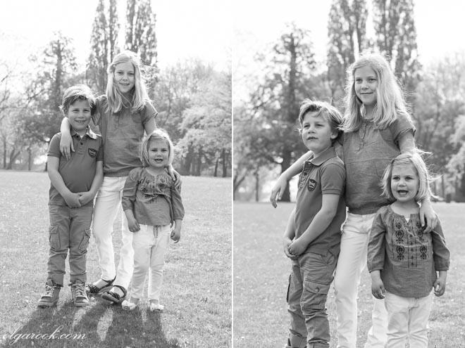 foto's van drie kinderen samen in een park