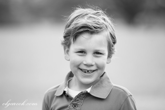 Portrait of a boy with a cute friendly smile