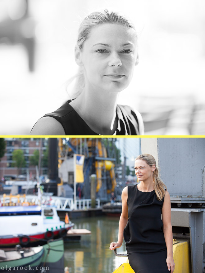Zakelijk portret in Rotterdam met industriële achtergrond