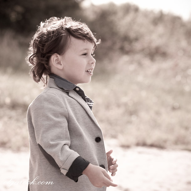 A romantic child portrait
