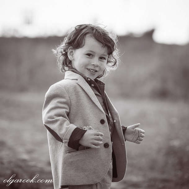 Vintage style child portrait