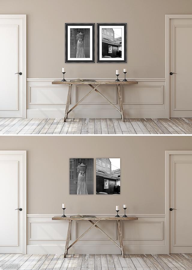 Foto's ingelijst met passé-partouts vs foto's op dibond of acryl.
