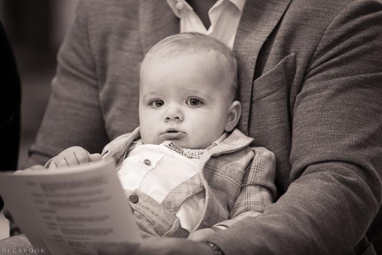 Doop van een baby jongen in Nijmegen bij Sint Antonius Abtkerk