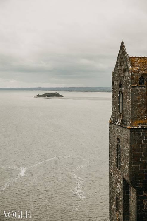 A view from Mont-Saint-Michel