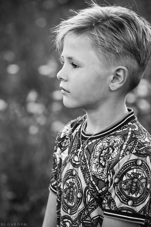 classic child portrait in black and white